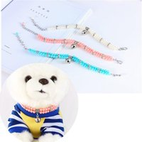 Dog Collars & Leashes Pet Collar Style Double Row Pearl Necklace Supplies Dogs And Cats Accessories