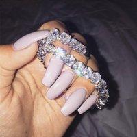 Hip hop Link Chain 14K white gold filled 8mm Round diamond painting full Bracelets For Women Men Luxury Gemstone Bracelet Handmade Jewelry