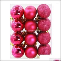 Festive Supplies & Garden24Pcs For Home Christmas Balls Baubles Party Tree Decorations Hanging Ornament Decor Xmas Year1 Drop Delivery 2021