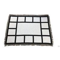 Süblimasyon Beyaz Battaniye Battaniye 9 15 20 Paneller Soogan Halı Kare Battaniyeler Theramal Transfer Baskı Deniz Nakliye DHE4893