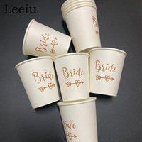 Party Decoration Leeiu 30pcs Bride Tribe Cup Wedding Engagement Disposable Tableware To Be Hen Bachelorette Bridal Shower