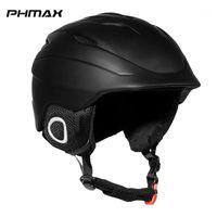 Phmax зимний взрослый лыжный шлем мужчина интегрально формованный сноуборд шлем женщины сохраняют теплые безопасные кататься на лыжах на лыжах защитника1