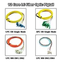 Équipement de fibre optique LC 12 cœurs Pigtail UPC / APC SM / mm MODE MULTI MODE 1,5 mètre