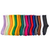 Salina damas calcetines invierno primavera año corto tubo ordinario moda 18 puro color colocación deportes ocio com jllyey