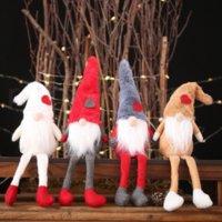 Jul nya dekorationer plysch docka dekoration kreativ skog gammal man står posera liten docka kreativ dekoration barn gåvor gyq