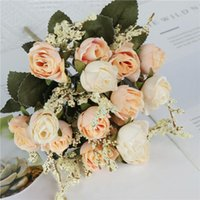 Decorative Flowers & Wreaths Artificial Roses High Quality Silk Fake Bouquet Home Garden Suitable For Wedding, Birthday, Anniversary Decorat