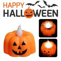 1pc Halloween Pumpkin Candle Light LED Lights Party Supplies Lantern Lamp Ornaments Props Home Decorations H0910