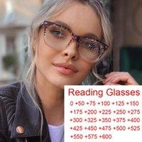 Fashion Square Designer Lunettes de lecture Femmes Clear Léopard Anti Blue Light Light Eyeglasses Hyperopia Prescription Lunettes Diopters +