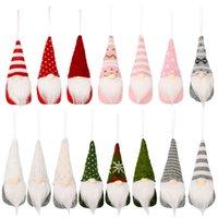 Décorations d'arbre de Noël peluche gnome pendentif pendentif suspendu ornement nouvel an Fournitures de fête de la maison décor xbjk2108