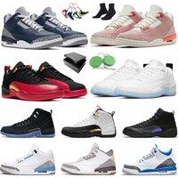 Nike Air Jordan Retro 12 Low Easter 12S XII Aj Jordans Jumpman 3 Georgetown 3s III Hommes Femmes Des Chaussures Basket-ball Grind UNC Royalty OVO FIBA Rust Pink Baskets de sport
