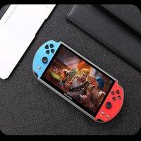 فيديو ألعاب فيديو لاعب X12 زائد 7 بوصة شاشة عالية الجودة المحمولة المحمولة PSP الرجعية المزدوج رافعة عصا التحكم FC / GB / MD
