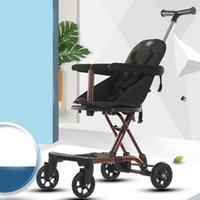 Cochecitos # 2021 Baby Walker Light Cuatro ruedas Cochecito plegable Portátil Tres CAR para niños