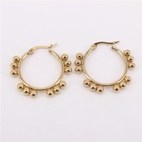 Hoop & Huggie Featured Earrings 32-37mm Fine Polished And Shiny Birthday Wedding Gift 2021 Four Seasons Gifts SL216
