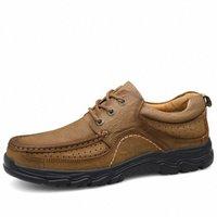 Nova qualidade de alta qualidade Sapatos 100% de couro genuíno sapatos casuais à prova d 'água trabalho de vaca de couro mocassins sapatilhas grande tamanho 38 47 munro sapatos 65tx #