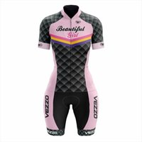 Vezzo Summer Femme Concours costume Ropa Ciclismo Mujer manches courtes triathlon shorts de vélo de vélo de vélo Jersey Vêtements Vêtements Vêtements Vêtements