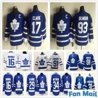Kids Toronto Lable Leafs 17 Wendel Clark 16 Mitchell Marner William Nylander Frederik Andersen 93 دوغ جيلمور الشباب بنين الهوكي الهوكي