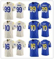 "2020 Los Angeles ""Rams"" Männer Frauen Jugend 16 Jared Goff 10 Cooper Kupp 99 Aaron Donald Bone Dampf Limited Football Jersey"