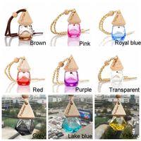 Car Bottle Pendant Oil Essential Diffuser Colors 9 Bag Clothes Air Ornaments Freshener Empty Glass ZX Perfume BH1908