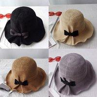 Sombrero de la venta caliente para las mujeres Sun Nueva protector solar plegable a lo largo de la sombra de paja multicolor simple ocio elegante sombrero encantador de verano