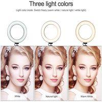 Neuheit 2021 Top 10 Zoll LED Selfie Ring Beleuchtung Bloomveg10-1 26cm Scheinwerferfülllicht Lampe Make-Up Ringlight Remote 3Colors Dimmable 10