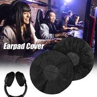100 pcs / saco acessórios de fone de ouvido descartável não tecido fone de ouvido Capa 10-12cm Capas de fone de ouvido