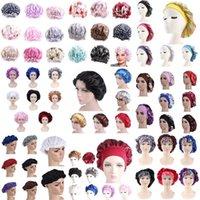 Shower Caps 1pc Adjust Satin Bonnet Hair Styling Long Care Women Night Sleep Hat Silk Head Wrap Cap Bathroon Accessories
