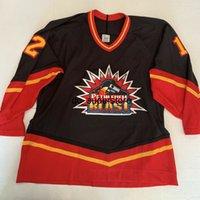 economico personalizzato ccm bethlehem blast ricamato / patch nero hockey jersey stitch Aggiungi qualsiasi nome numero uomo bambini hockey maglie XS-5XL