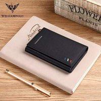 Portefeuilles RFID portefeuille pour hommes Portefeuille Simple Slim Rouge Blanc Blanc Trois pli Multi Carte Position ultra mince Cuir