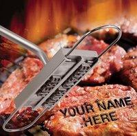 BBQ شواء أدوات الحديد العلامة التجارية مع قابلة للتغيير 55 خطابات حريق وصفت بصمة الأبجدية الملمينوم في الهواء الطلق الطبخ ل sn5231