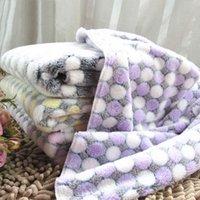Lit doux chien couverture mignon animal de compagnie dormir chaud chien chien chat mat ch chiot en molleton doux couverture couverture tapis chat en pointillé mignon