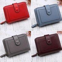 Wallets Women Girl Short Small Wallet Lady Leather Folding Coin Card Holder Money Purse Handbag Zip