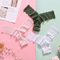 the Manufacturer Directlynew Thong Lace Cotton Crotch Sexy Low Waist Underwear Women's Y-shaped Pants