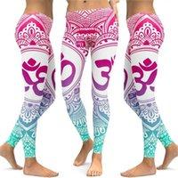 Roupas Yoga Fishsunday Mulheres Impresso Cintura Alta Fitness Leggings Runny Stretch Sports Sports Yaga calças cair 0809