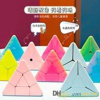 Уровень начального уровня Треугольник Magic Cube Дети Красочные Macaroon Ультра-Гладкая скорость Куб Головоломки Твист Игрушечные Подарки Упаковка