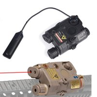 PEQ-15 LA5 Beyaz LED Taktik Fener + Red Dot Lazer + IR Lensler Avcılık Tüfek Airsoft Pil Kutusu Wex276 Işıkları