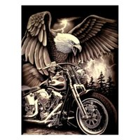 Diy Eagle Motorcycle Diamond Painting Kit Cross Stitch Embroidery Mosaic Home Decoration Sticker FC455