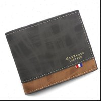 Mens Wallet Leather Solid Slim Wallets Men Pu Bifold Short Credit Card Holders Coin Purses Business Purse Male