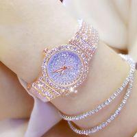 BS Bee-сестра - алмазные часы для женщин, роскошный бренд, маленький шар, розовое золото, молния из нержавеющей стали, Bayannur Sati J0528