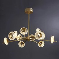 Pendant Lamps Nordic Art Donuts Design Living Room Crystal Led Chandelier Modern Minimalist Brass Restaurant Bedroom Hanging