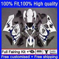 OEM Motorcycle Body para Suzuki GSXR 1000 CC 1000cc Bodywork Blue Flames 26NO.162 K5 GSXR1000 05 06 GSXR-1000 2005-2006 GSX-R1000 2005 2005 Molde de inyección carente