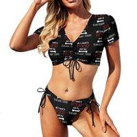 One-Piece Suits Yorkshire Terrier Bikini Swimsuit Adjustable Classic Swimwear Sport Ladies 2 Piece Bathing Suit