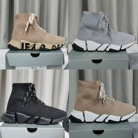 New Triple s Knit Socks Shoes Mesh Speed 2.0 Trainer High Race Runners Men and women Designer Sneaker Casual Trainers Sneakers with box size 35-45