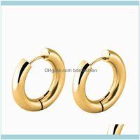 Hie Jewelrystainless Steel Mens Metal Earrings Perforated Charm Round For Women & Mantitanium Hoop Punk Bricos1 Drop Delivery 2021 Xbte5