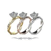 Wedding Rings Ring Woman Titanium Steel Men's Fashion Jewelry Rose Gold Luxury Couple Engagement 18K Gold-Plating Princess