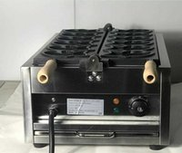 Gıda İşleme Ekipmanları Ücretsiz Elektrikli 110 V 220 V Taiyaki Waffle Izgara Balık Şekli Maker 9ZC0