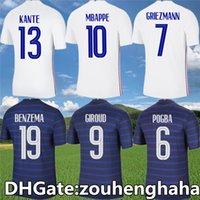 بنزيما فرنسا Kante Soccer Jerseys 2021 22 Mbappe Giroud Mailleots De Foot Ben Yedder Grizmann Dembele Hernandez Thuram Football Shirts Kit Size S-4XL