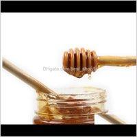 Мини деревянные медовые палочки медовые пылики 8см вечеринка подача ложка палка медовая банка палка кофе ложка свадебные вечеринки бар поставка доставка zgqh vawz0