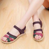McCkle Fashion Femmes Sandales Plus Taille Taille Femelle Chaussures Chaussures Mixtes Couleur Casual Summer Platform Heel Heel Hook Crochet Boucle Foorwear I0jv #