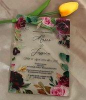 Other Event & Party Supplies Custom 10pcs Acrylic Wedding Invitation,Acrylic Birthday Invite,Eucalyptus,Peony,Rose Invitations,Pink,Favor De