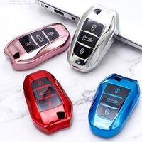 لينة TPU سيارة الذكية حالة مفتاح غطاء كامل شل لبيجو 308 408 508 2008 3008 4008 5008 سيتروين C4 C4 C6 C3-XR السيارات السيارات